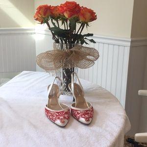Oscar de La Renta elegant slingback heels